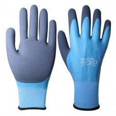 Blue/Blue Water Shield Latex Gloves