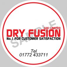 Dry Fusion Dome Sticker