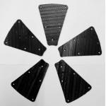 Grippers. Set Of 5 inc. rivets