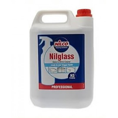 Nilco Nilglass 5L Professional Glass & Mirror Cleaner 5 Litre H3 - Only £9.49