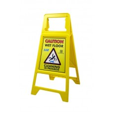 Safe Guard Non-Tip Safety Sign Wet Floor Yellow